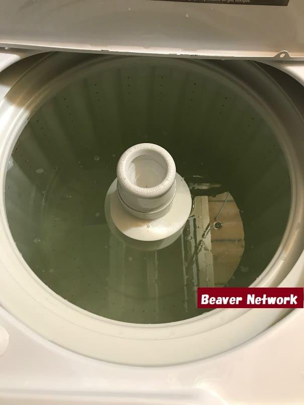 カナダで洗濯機を洗う